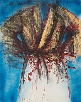 "343. Jim Dine, ""Flowered robe with sky""."