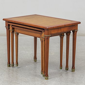 A set of three tables, latter haft of the 20th century.