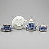 A 14 piece porcelain tea service from lomonosov, russia, 21st century