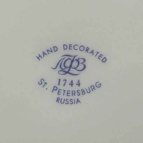Teservis, 14 delar, porslin, lomonosov, ryssland, 2000 tal