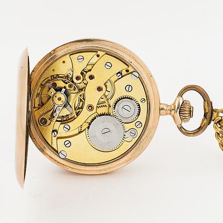 Pocket watch, exakt, hunter, 51 mm.