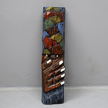 CALLE ÖRNEMARK, a painted wooden sculpture.