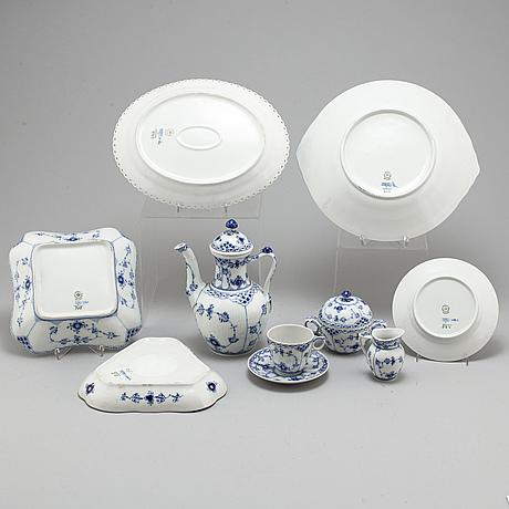 Royal copenhagen, a 30 piece porcelain coffee service, denmark