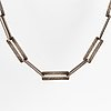 Rey urban, a sterling silver necklace, stockholm 1982