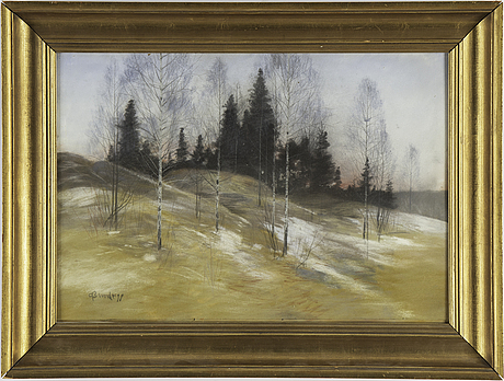 Carl brandt, pastel, signed and dated -99.