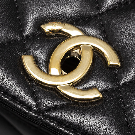Chanel, a black leather 2017 flap bag