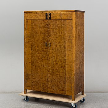A birch venereed cabinet, 1930's.