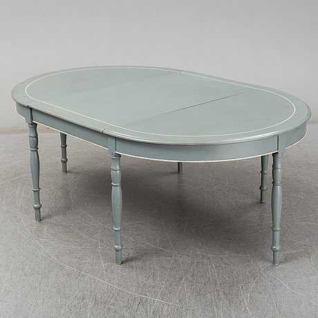 A circa 1900 painted dining table