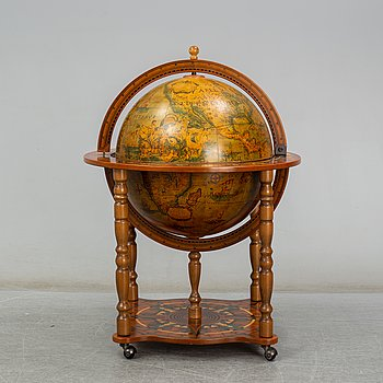 A globe drinks cabinet, late 20th Century.