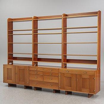 JOSEF FRANK, three model 2112 mahogany shelves, Svenskt Tenn, Sweden.