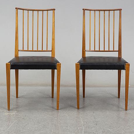Josef frank, six model 970 chairs for svenskt tenn, sweden.