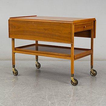 JOSEF FRANK, a walnut tea trolley model 470, Svenskt Tenn, Sweden.