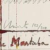 Christo & jeanne claude, serigraph, collotype, photograph collage. 1986