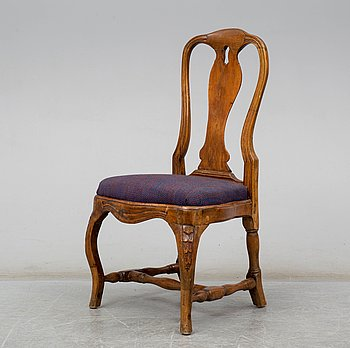 A Swedish Rococo chair, second half of the 18th century.