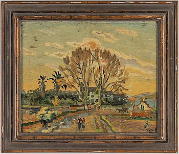 FOLKE PERSSON, oil on panel, signed.