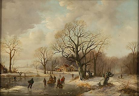 Willem de klerk, oil on panel, signed w. de klerk.