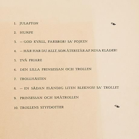 """John bauer, """"troll"""", ten unsigned litographs by john bauer, ernst bauers förlag gothenburg, a. börtzells, 1915."""