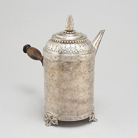Anders hjulström, kaffekanna, köping 1792. gustaviansk.