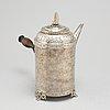 A swedish 18th century silver coffee-pot, mark of anders hjulström, köping 1792.