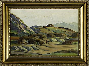 EMANUEL AAGE PETERSEN, oil on canvas, signed.
