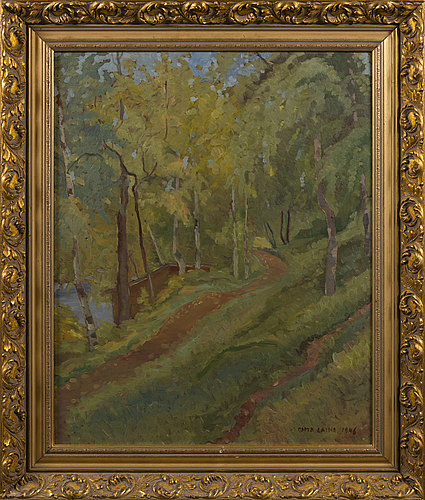Osmo laine, oil on board, signed and dated 1946.
