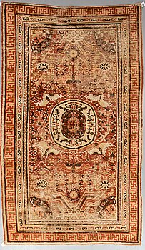 A CARPET, an antique Khotan, ca 296,5 x 181 cm.