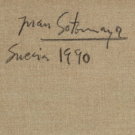 Juan sotomayor, canvas, signed and dated 1900 on verso