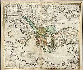 JOHAN BAPTISTA HOMANN / HOMANN HEIRS - MAP, 'Imperii Turcici Europaei Terra,...', Nürnberg, 1741.