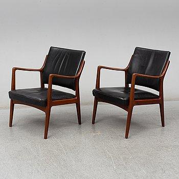 KARL ERIK EKSELIUS, a pair of late 20th Century easy chairs.