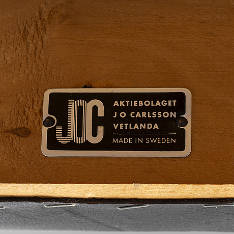 Karl erik ekselius, a pair of late 20th century easy chairs