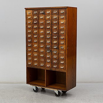 A late 20th Century archive cabinet.