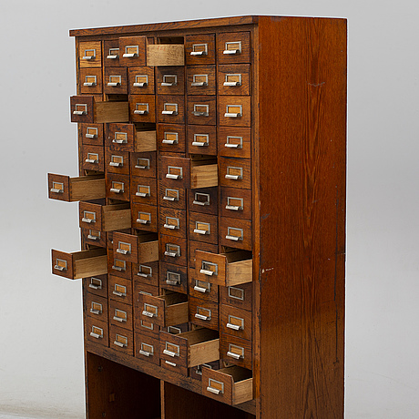 A late 20th century archive cabinet