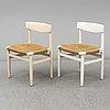 BØrge mogensen, five 'oresunds' chairs, late 20th century