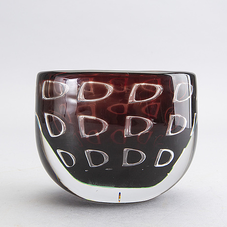 Ingeborg lundin, a signed ariel glass bowl