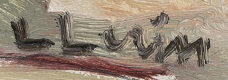 Lars lerin, olja på pannå signerad