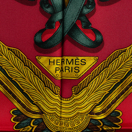 """HermÈs, scarf, """"les parures du vent""""."""