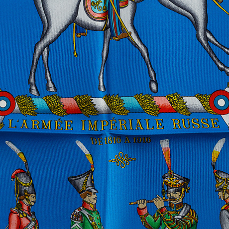 """HermÈs, scarf, """"paris l'armee imperiale russe de 1816 a 1916"""""""