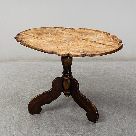 A tilt top table, 18th century and later