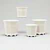 Prins eugen, four 'waldemarsudde' porcelain pots, gustavsberg and rörstrand