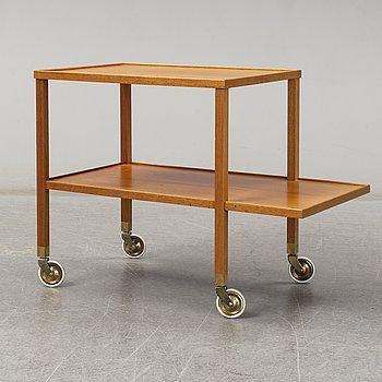 JOSEF FRANK, a model 470 walnut tea trolley for Svenskt Tenn, Sweden.