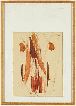 EDDIE FIGGE, akvarell, signerad Figge och daterad 1956.