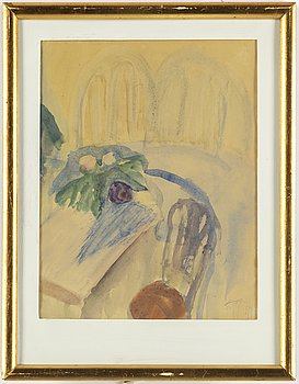 EDDIE FIGGE, akvarell, signerad Figge och daterad 1947.