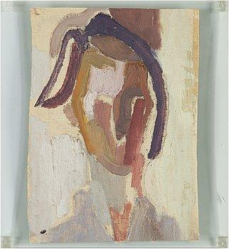 EDDIE FIGGE, olja på duk uppfäst på plexiglas, signerad och daterad 1950 a tergo.