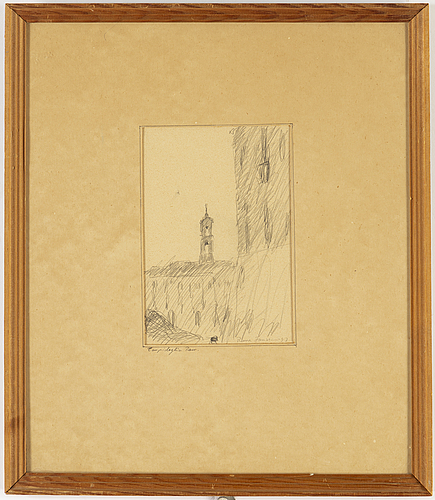 Rune jansson, pencil on paper, signed and dated -47.