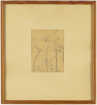 RUNE JANSSON, blyertsteckning, signerad Rune Jansson och daterad -42.
