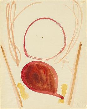 EDDIE FIGGE, akvarell på papper, signerad Figge och daterad 56.