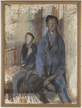 EDDIE FIGGE, olja på duk, signerad och daterad 1944 a tergo. Även dedikation a tergo.