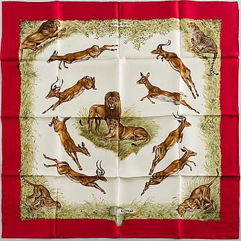 "HERMÈS, scarf, ""Kenya""."