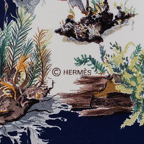 HermÈs, scarf, 'champignons'.