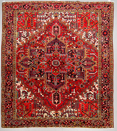 A carpet, old heriz ca  276 x 247 cm.
